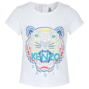 Kenzo White Tiger Embroidered Tee 6 months