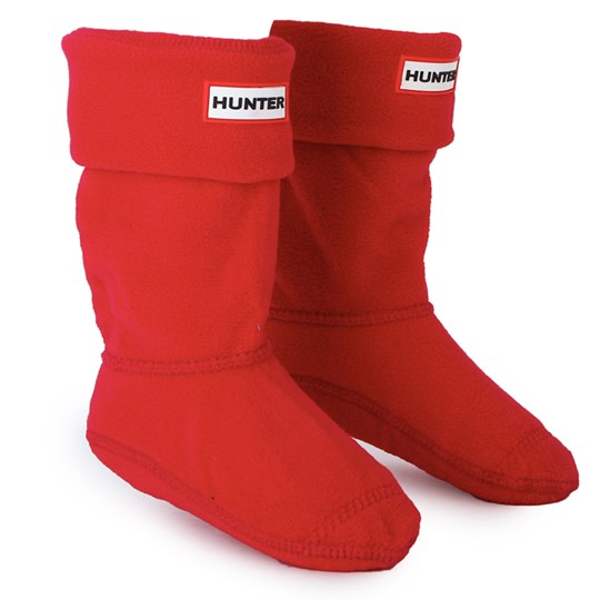 Hunter Fleece Boot Sock Rød