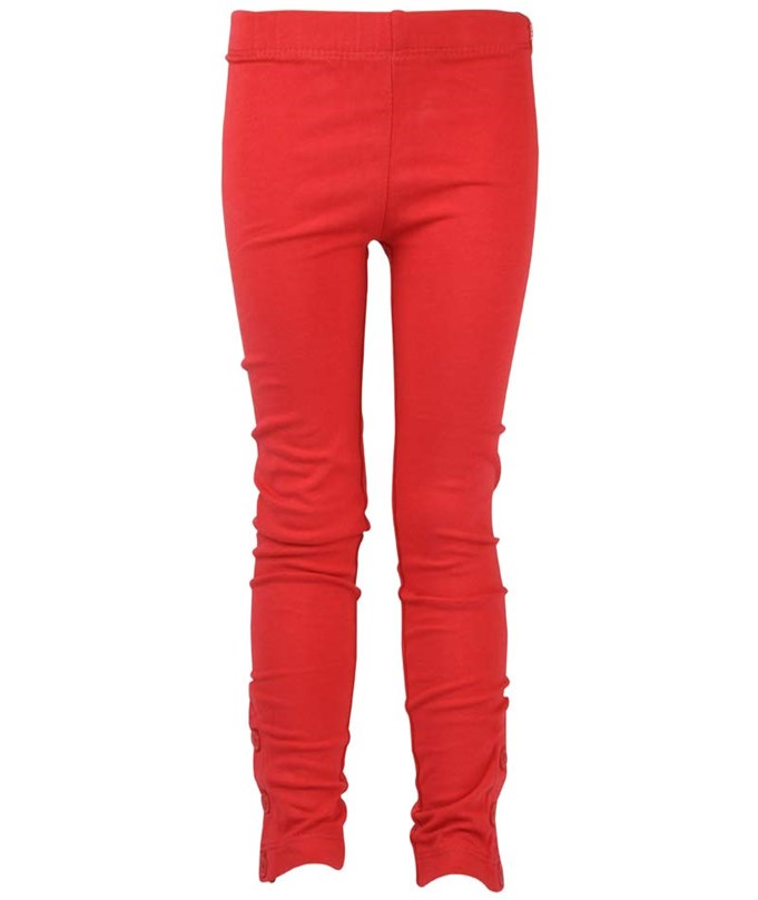 Leggings Solid Fancy Red