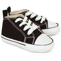 Converse Black Chuck Taylor All Star First Star Crib Shoes Black