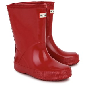 Image of Hunter First Gloss Wellington Boots Red 21 (UK 4) (2936727245)