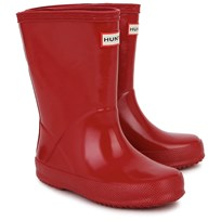 Hunter Red First Gloss Wellington Boots Red