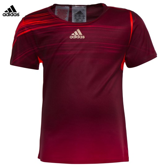 adidas Performance Ivanovic Adizero US Open Tee MAROON/SOLAR RED