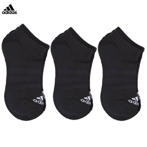 Image of adidas Performance Black 3 Pack Cotton No Show Socks UK 12.5-2 (3139025805)