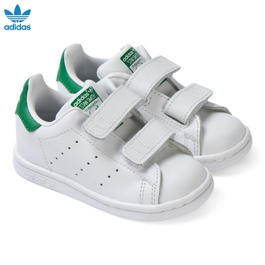 adidas Originals White and Green Infants Stan Smith Trainers FTWR WHITE/FTWR WHITE/GREEN