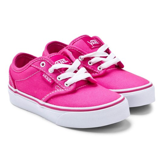 Vans Pink Atwood Laced Trainers (CANVAS) MAGENTA/WHITE
