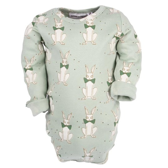 Mini Rodini Rabbit L/S Body Green Green