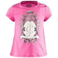 Juicy Couture Pink Jewelled Logo Crest Tee FRAGRANT ROSE