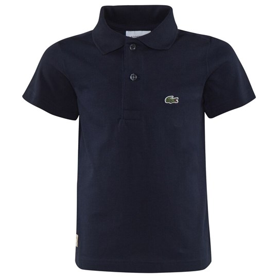 Lacoste Navy Jersey Branded Polo 166