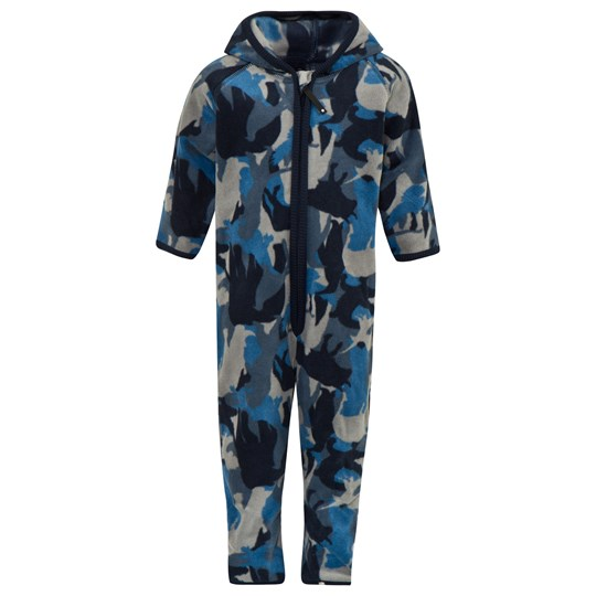 Molo Blue Animal Camo Unity Fleece Suit 4338 BLUE CAMO ANIMALS