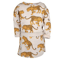 Mini Rodini Tiger Dress Grey Melange