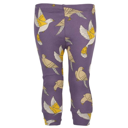 Mini Rodini Doves Leggings Purple Purple
