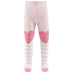 Falke Pink Stripe Crawler Tights W Hearts On Knees And Catspads