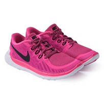 NIKE Pink Free 5.0 Trainers WHITE/VIVID PINK-COPA-PR PLTNM