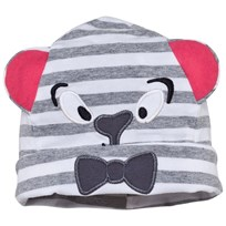 Barts Striped Bear Leelo Baby Beanie (45 (0-6 months)) 02 HEATHER GREY