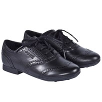 Geox Black Plie Leather lace Up Shoes C9999