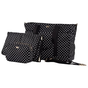 04309e5c49 Dolce   Gabbana. Black Polka-Dot Branded Changing Bag with Changing Mat