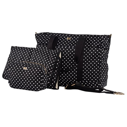 Dolce & Gabbana Black Polka-Dot Branded Changing Bag with Changing Mat, Wash Bag 87132