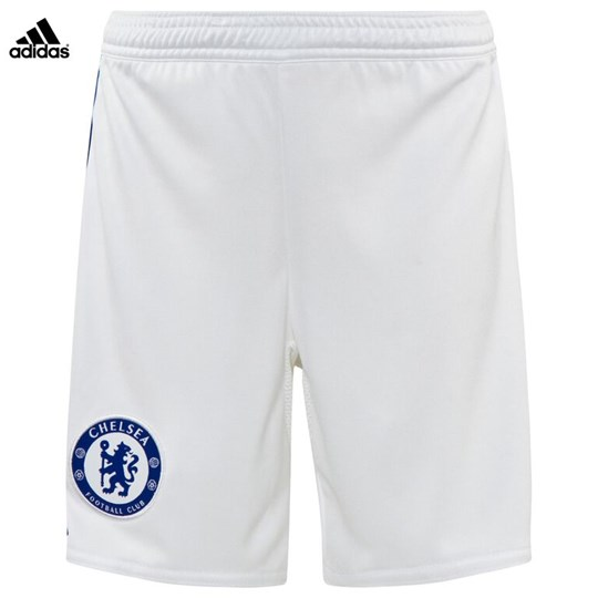 Chelsea FC Official 2015/16 Away Shorts WHITE/CHELSEA BLUE