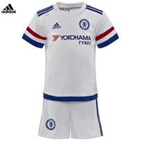 Chelsea FC Official 2015/16 Away Infant Kit WHITE/CHELSEA BLUE/POWER RED