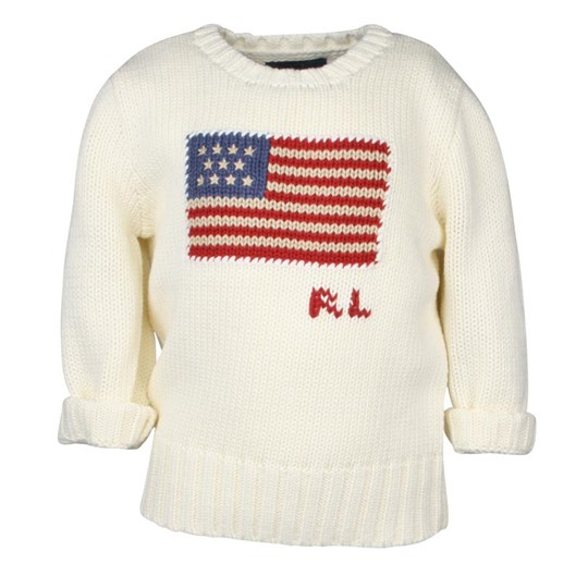 Ralph Lauren CN Flag Classic Cream White
