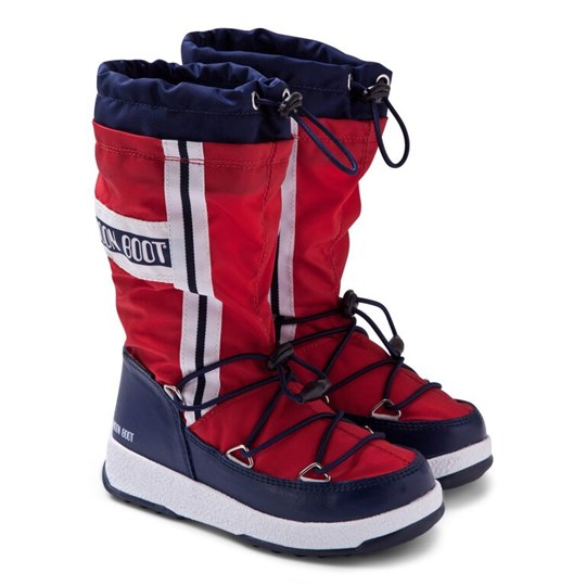 Moon Boot Red W.E. Waterfall Boots 002 RED-BLUE-NAVY