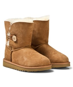 Image of UGG Bailey Button Chestnut Boots 33 (UK 2 / US 3) (2743693865)