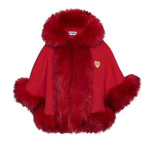 Image of Bandit`s Girl Red Faux Fur Cape L (8-9 years) (2995684499)