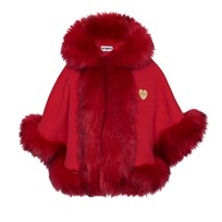 Bandit's Girl Red Faux Fur Cape Red