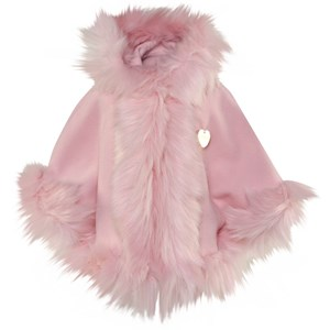 Image of Bandit's Girl Pink Faux Fur Cape L (8-9 years) (2995683853)