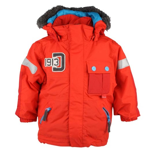 Didriksons Devon Kids Jacket Red Rød