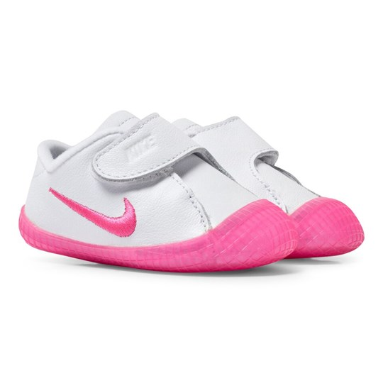 5d9827236 NIKE - White and Pink Waffle 1 Crib Trainers - Babyshop.com