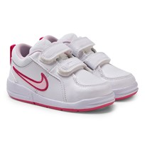 NIKE White and Pink Pico 4 Velcro Trainers WHITE/SPARK//PRISM PINK