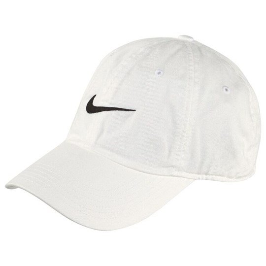 NIKE White Swoosh Heritage Adjustable Cap White/Black