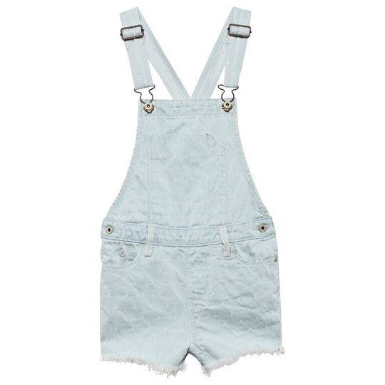 Scotch R'belle Light Wash Embroidered Cut Off Dungarees 48 BLUE