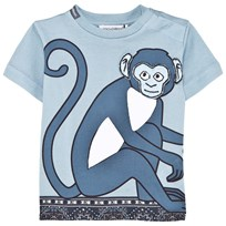 Blue Monkey and Tile Print Tee