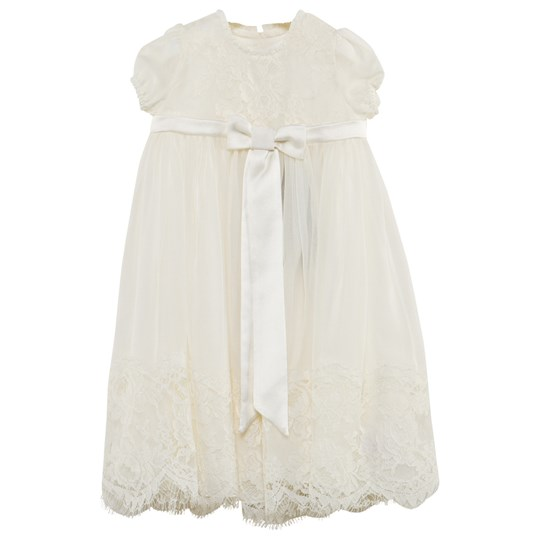 Dolce & Gabbana Ivory Handmade Lace and Chiffon Christening Dress W0111