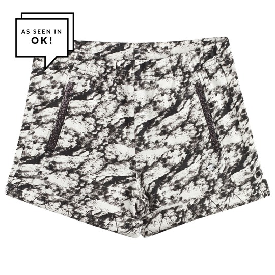 IKKS Black and White Tie Dye Jersey Shorts 02
