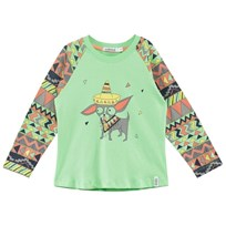 Indikidual Mint Multi Aztec and Chihuahua Print Tee Mint