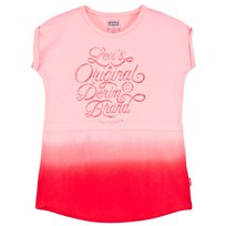 Levis Kids Pink Dip Dyed Logo Dress 37
