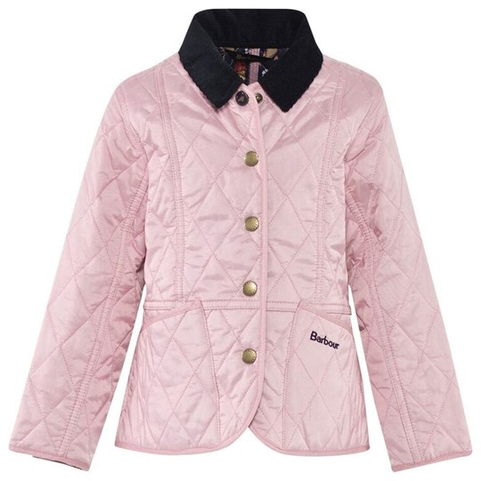Barbour Hereton Quilt Jacket Pale Pink with Floral Lining PI14