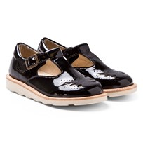 Young Soles Black Patent Rosie T-Bar Shoes BLACK PATENT LEATHER