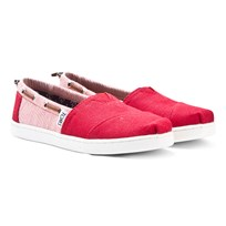 Toms Red Burlap & Stripe Youth Biminis RED BURLAP STRIPE