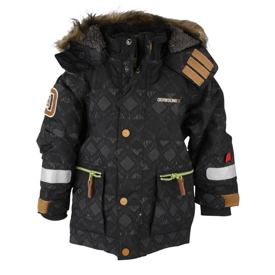 Didriksons Jarvis Kids Jacket Black Blue