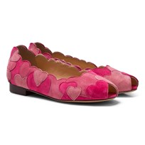 Charlotte Olympia Pink Incy Love Me Heart Applique Flats Pink