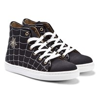 Charlotte Olympia Black Incy Web High Top Sneakers Black