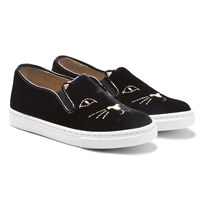Charlotte Olympia Black Incy Cool Cats Slip-on Sneakers Black
