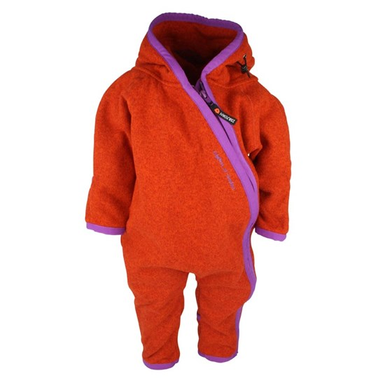 Isbjörn Of Sweden Rib Fleece Jumpsuit Amber Rød