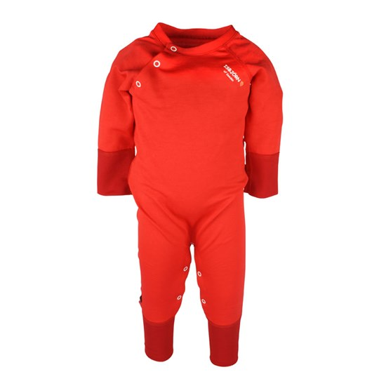 Isbjörn Of Sweden Thin Baby Jumpsuit Lava Red