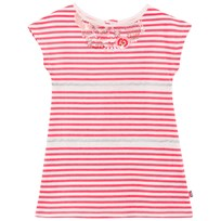 Billieblush Pink Stripe Tee Dress With Flower Embroidered Neckline 499